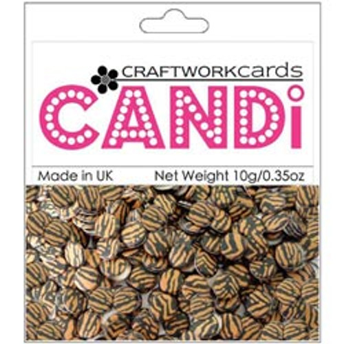 "Candi Collection Tiger 3/8"" Candi Dots by Craftworkcards - 10 grams (.35 oz)"