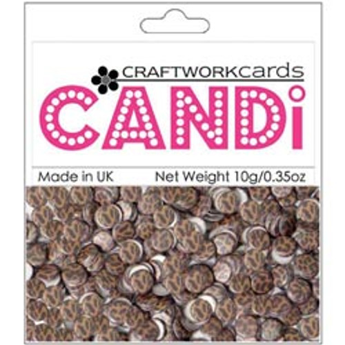 "Candi Collection Cheetah 3/8"" Candi Dots by Craftworkcards - 10 grams (.35 oz)"