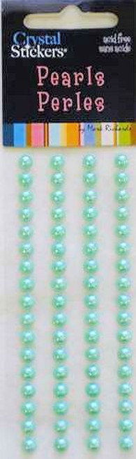 Crystal Stickers Mint 5mm Pearls by Mark Richards USA