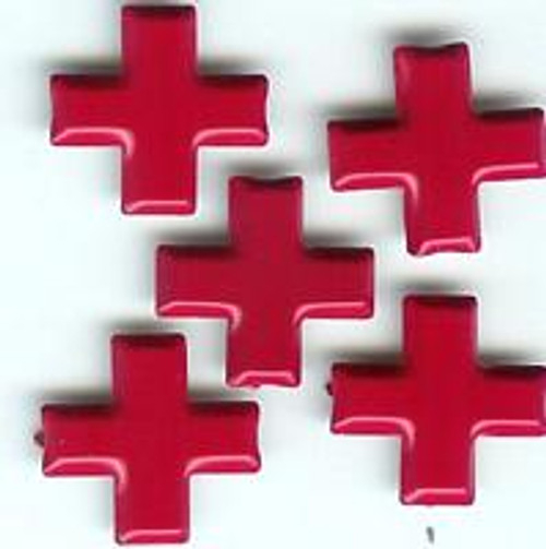 Red Cross Brads  by Eyelet Outlet - Pkg. of 12