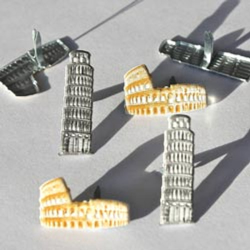 Italy Leaning Tower of Pisa & Colosseum Brads by Eyelet Outlet - Pkg. of 12