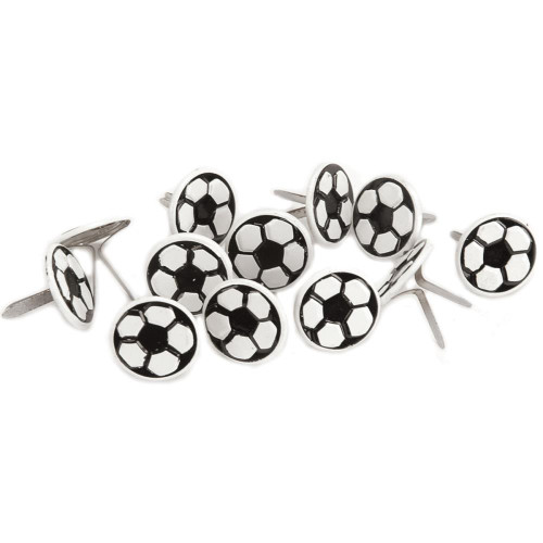 Sports Balls Collection Soccer Ball Scrapbook Brads by Eyelet Outlet - Pkg. of 12