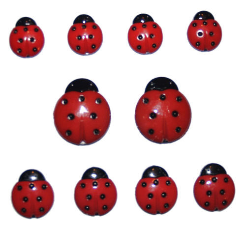 Lady Bugs Buttons by Jesse James Buttons