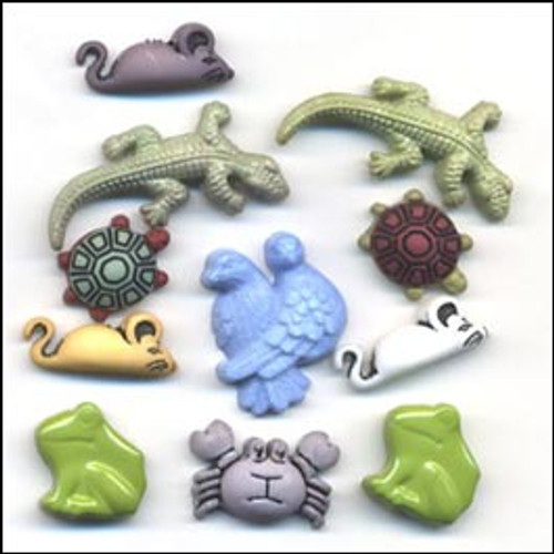 Exotic Pets Buttons by Buttons Galore