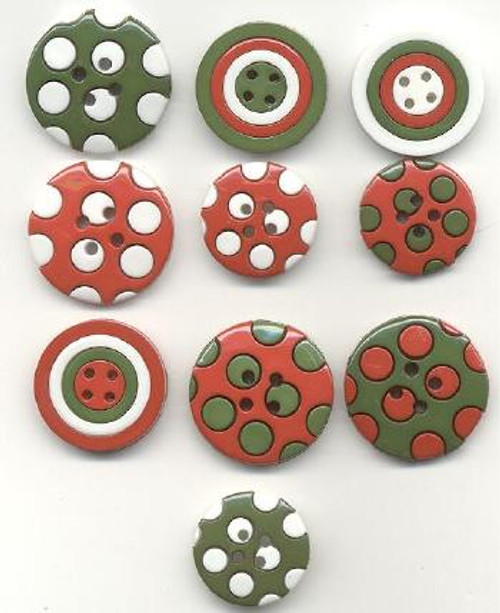 Colors of Christmas Buttons by Jesse James Buttons