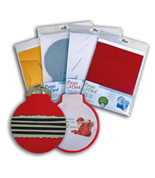 Golden Shimmer Ornament Create A Card Cardpack (8 Cards, Inserts and Envelopes) by WorldWin Papers