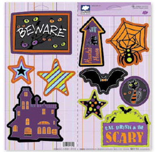 Halloween Fun Collection Sparkle Cardstock Jumbo Punch-Outs by Cloud 9 Design
