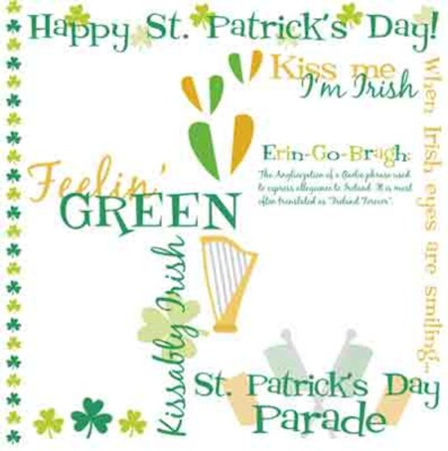 St. Patrick's Day 12 x 12 Rub-Ons by Karen Foster Design