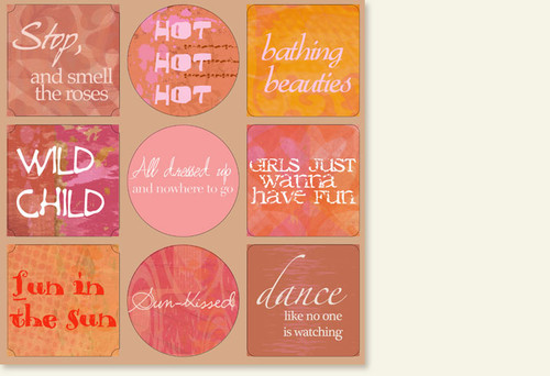Isadora Collection 12 x 12 Sticker Sheet by The Paper Element