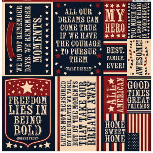 Party In The USA Collection 12 x 12 Sticker Sheet by Reminisce