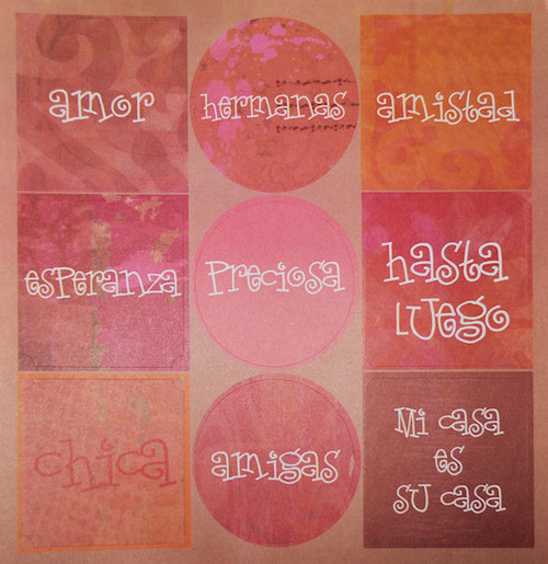Isadora Collection Amor 12 x 12 Sticker Sheet by The Paper Element