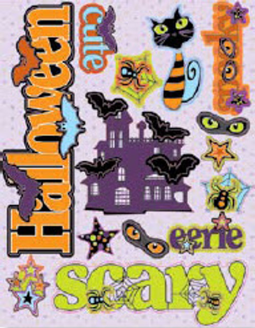 Halloween Fun Collection Chipboard 3-D Stickers by Cloud 9 Design