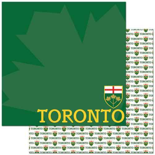 Passports Collection Toronto Canada Double-Sided 12 x 12 Scrapbook Paper by Reminisce