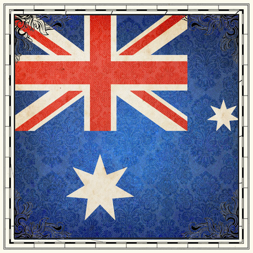 Sightseeing Collection Australian Flag 12 x 12 Scrapbook Paper by Scrapbook Customs
