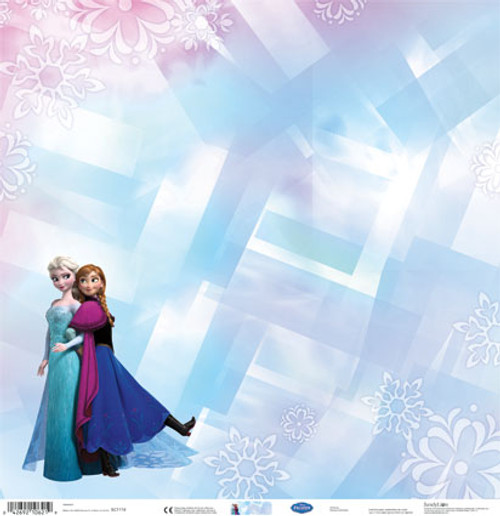 Disney Frozen Collection Anna & Elsa 12 x 12 Scrapbook Paper by Sandylion