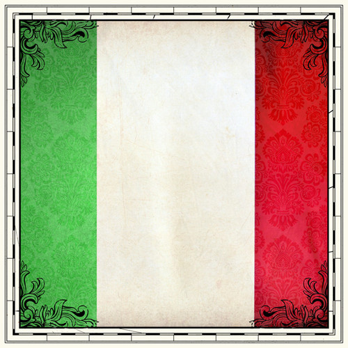 Sightseeing Collection Italy Flag 12 x 12 Scrapbook Paper by Scrapbook Customs
