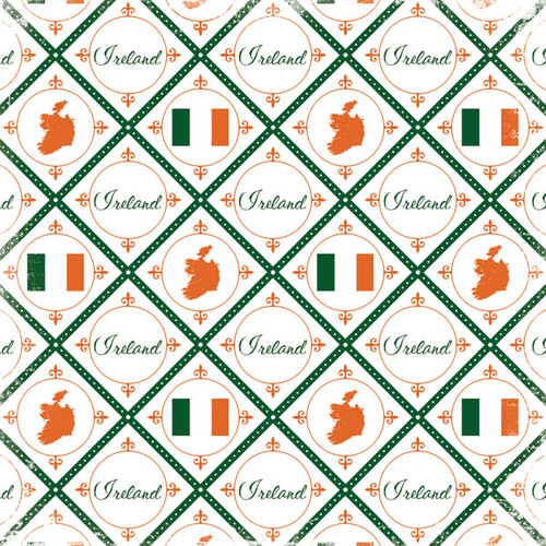 Discover Collection Ireland 12 x 12 Scrapbook Paper by Scrapbook Customs