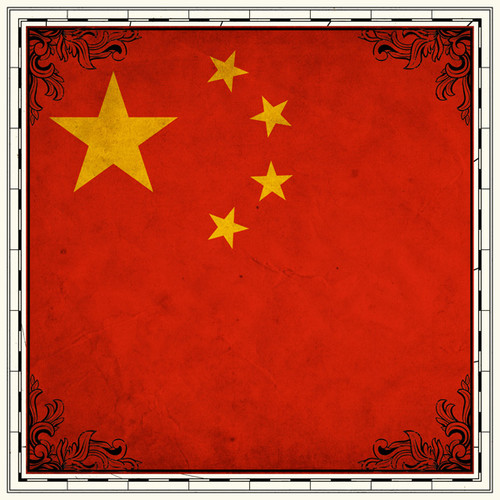Sightseeing Collection China Flag 12 x 12 Scrapbook Paper by Scrapbook Customs
