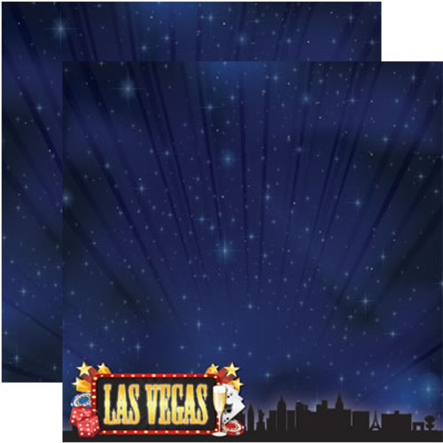 Signature Series 4 Collection Las Vegas Double-Sided 12 x 12 Scrapbook Paper by Reminisce