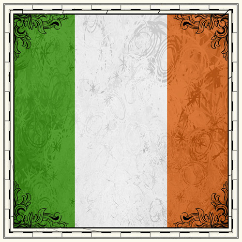 Sightseeing Collection Ireland Flag 12 x 12 Scrapbook Paper by Scrapbook Customs