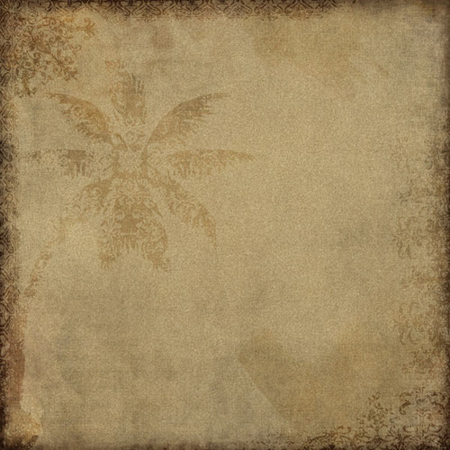 Paradise Collection Paradise Palm Tree 12 x 12 Scrapbook Paper by Scrapbook Customs