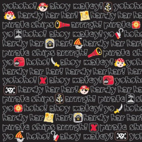 Magical Memories Collection Pirates Foiled 12 x 12 Scrapbook Paper by Creative Imaginations