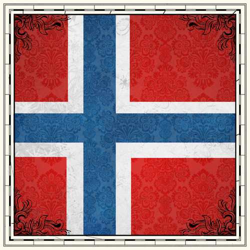 Sightseeing Collection Norway Flag 12 x 12 Scrapbook Paper by Scrapbook Customs