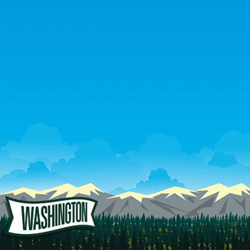 The State Line Collection Washington 12 x 12 Scrapbook Paper by Reminisce
