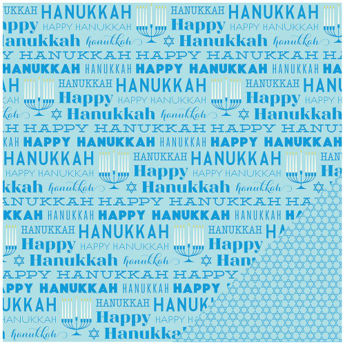 Color of Memories Collection Hanukkah 12 x 12 Double-Sided Scrapbook Paper by American Crafts