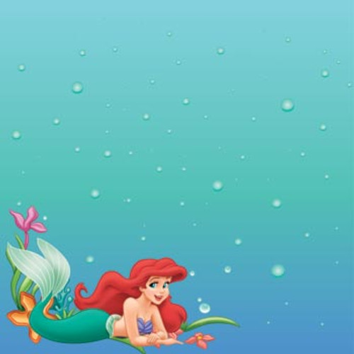 Disney The Little Mermaid Collection Ariel 12 x 12 Scrapbook Paper by Sandylion