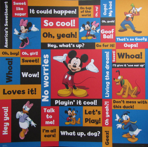 Disney Mickey Mouse & Friends Collection What's Up 12 x 12 Scrapbook Paper by Sandylion
