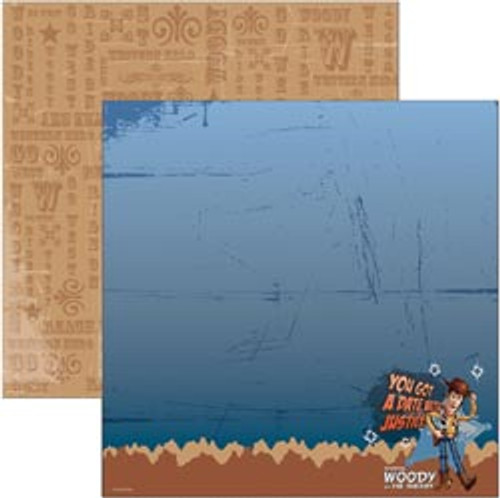 Disney Toy Story Collection Woody Justice Double-Sided 12 x 12 Scrapbook Paper by EK Success
