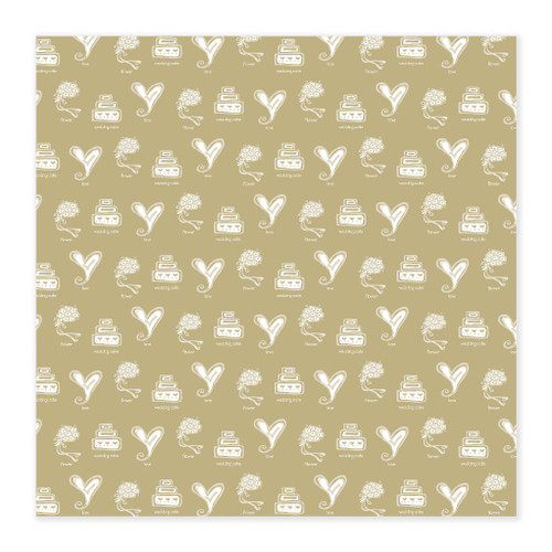 Wedding Ceremony Collection Gold Ceremony 12 x 12 Scrapbook Paper by Masterpiece Studios