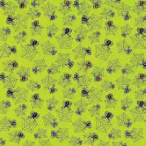 Halloween Fun Collection Sparkle Multi-Spiders 12 x12 Scrapbook Paper by Cloud 9 Design