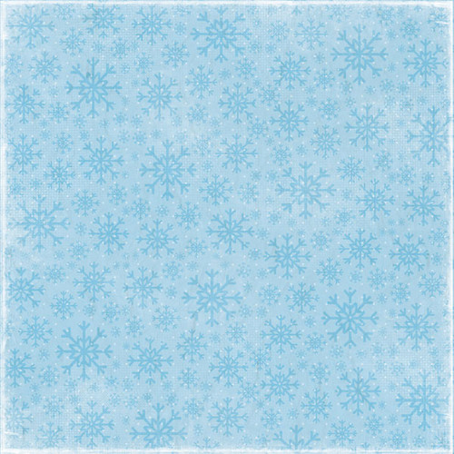 Winter Fun Collection Snowflake 12 x 12 Scrapbook Paper by Scrapbook Customs