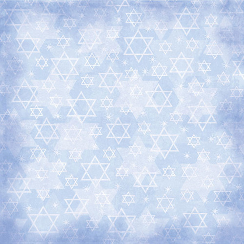 Jewish Faith Collection Star of David 12 x 12 Scrapbook Paper by Scrapbook Customs