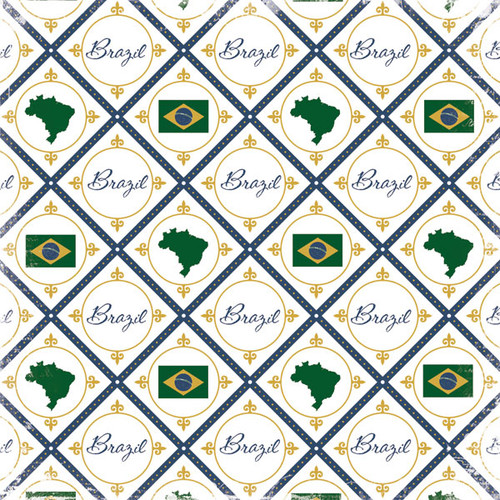 Discover Collection Brazil Icons 12 x 12 Scrapbook Papers by Scrapbook Customs