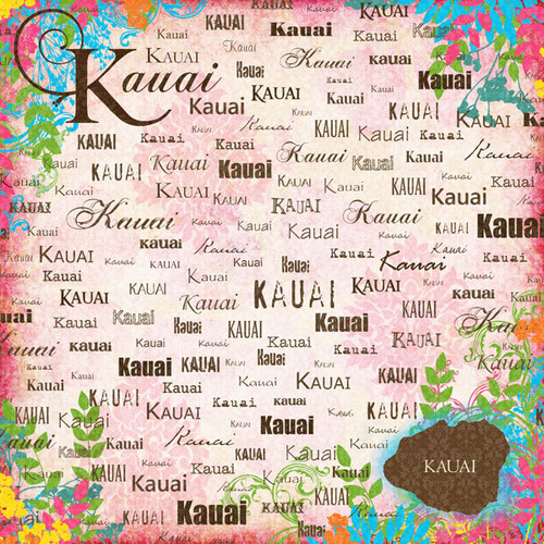 Paradise Collection Kauai 12 x 12 Scrapbook Paper by Scrapbook Customs