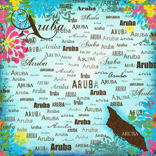 Paradise Collection Aruba 12 x 12 Scrapbook Paper by Scrapbook Customs
