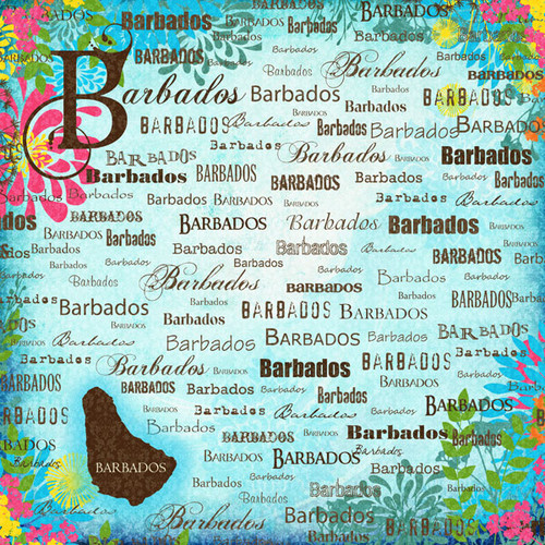 Paradise Collection Barbados 12 x 12 Scrapbook Paper by Scrapbook Customs
