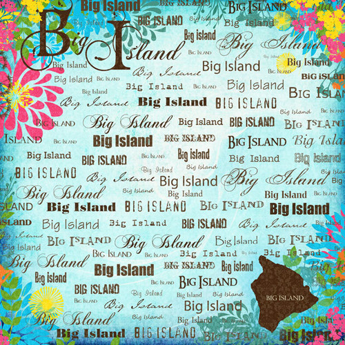 Paradise Collection Hawaii Big Island 12 x 12 Scrapbook Paper by Scrapbook Customs