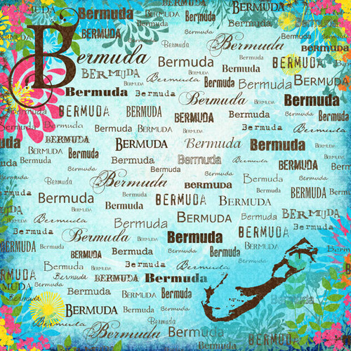 Paradise Collection Bermuda 12 x 12 Scrapbook Paper by Scrapbook Customs