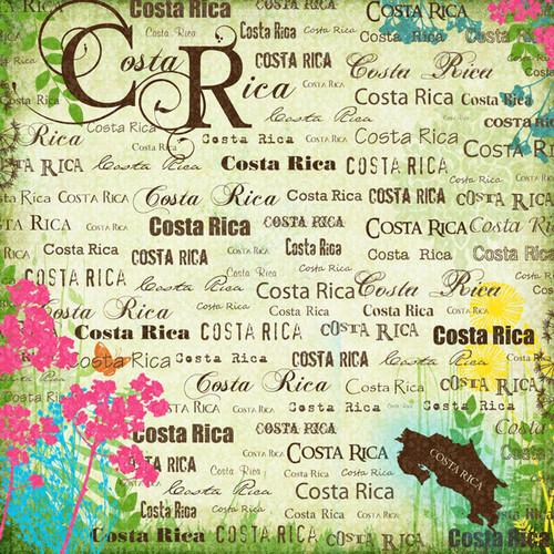 Paradise Collection Costa Rica 12 x 12 Scrapbook Paper by Scrapbook Customs