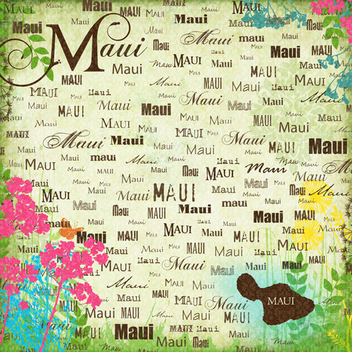 Paradise Collection Maui 12 x 12 Scrapbook Paper by Scrapbook Customs