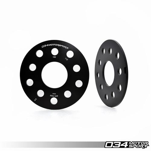 034Motorsport Wheel Spacer Pair, 5mm, Audi/Volkswagen 5x112mm & 5x100mm with 57.1mm Center Bore