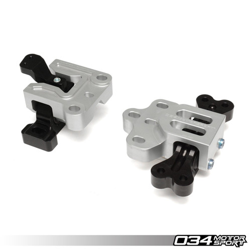 034Motorsport Motorsport Streetsport Engine/transmission Mount Billet Aluminium Pair - 8P A3 3.2, 8J TTRS & TT 3.2, MK5 R32