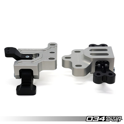034Motorsport Motorsport Tracksport Engine/Transmission Mount Pair Billet Aluminium - Golf Mk5 2.0T & 8J/8P A3/TT