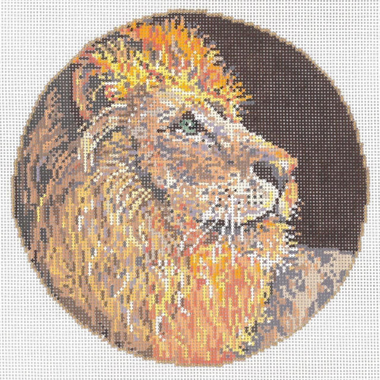 f00d3097855d7 The King 6.25 dia. 18 Mesh Once In A Blue Moon By Sandra Gilmore 18-1085 -  The NeedleArt Closet