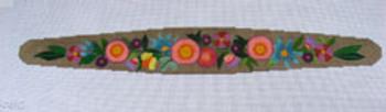"""Ann Wheat Pace 625C Garden Flowers Headband  20"""" x 6"""" 18 Mesh"""