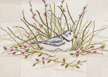 """#2612 Piping Plover Brick Cover 13 Mesh - 14"""" x 10"""" Needle Crossings"""